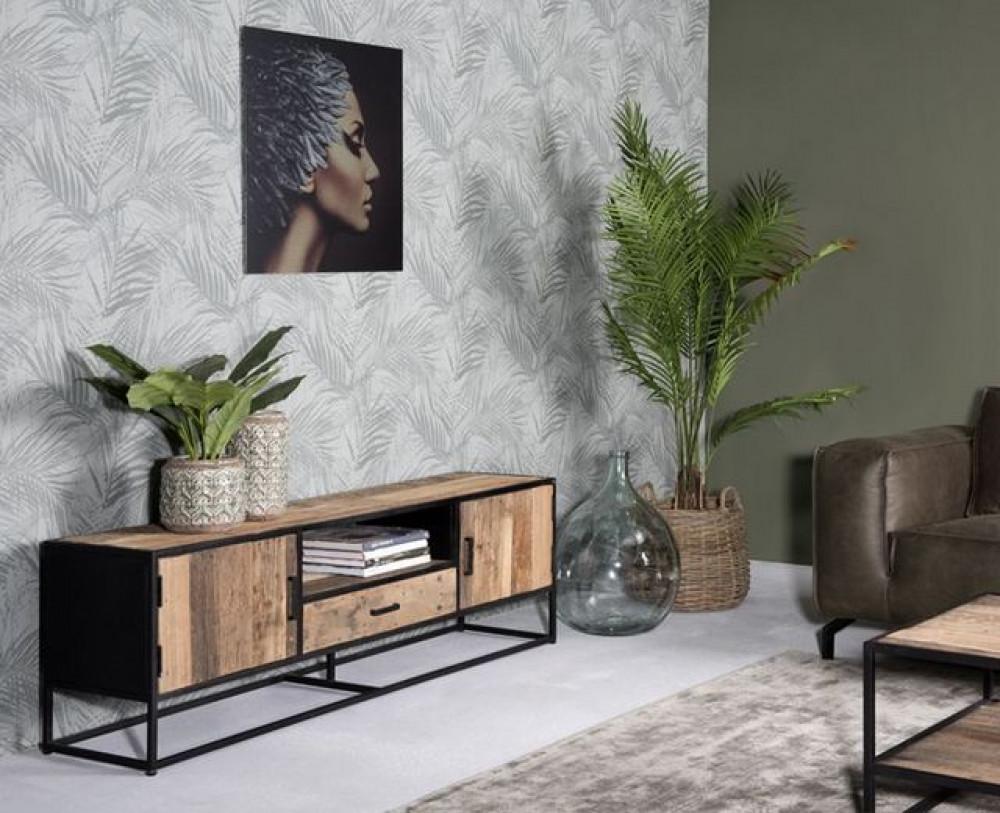 Tv Schrank Industriedesign Fernsehschrank Metall Gestell