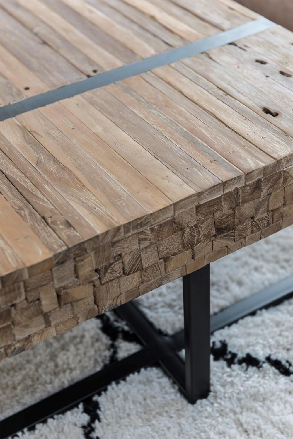Couchtisch Holz Landhausstil Couchtisch Industriedeisgn Metall Holz