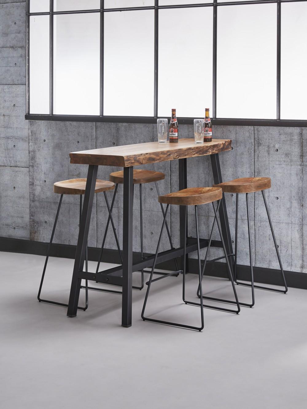 Barhocker Industrie Holz Schale Hocker Metall Industriedesign Sitzhohe 70 Cm