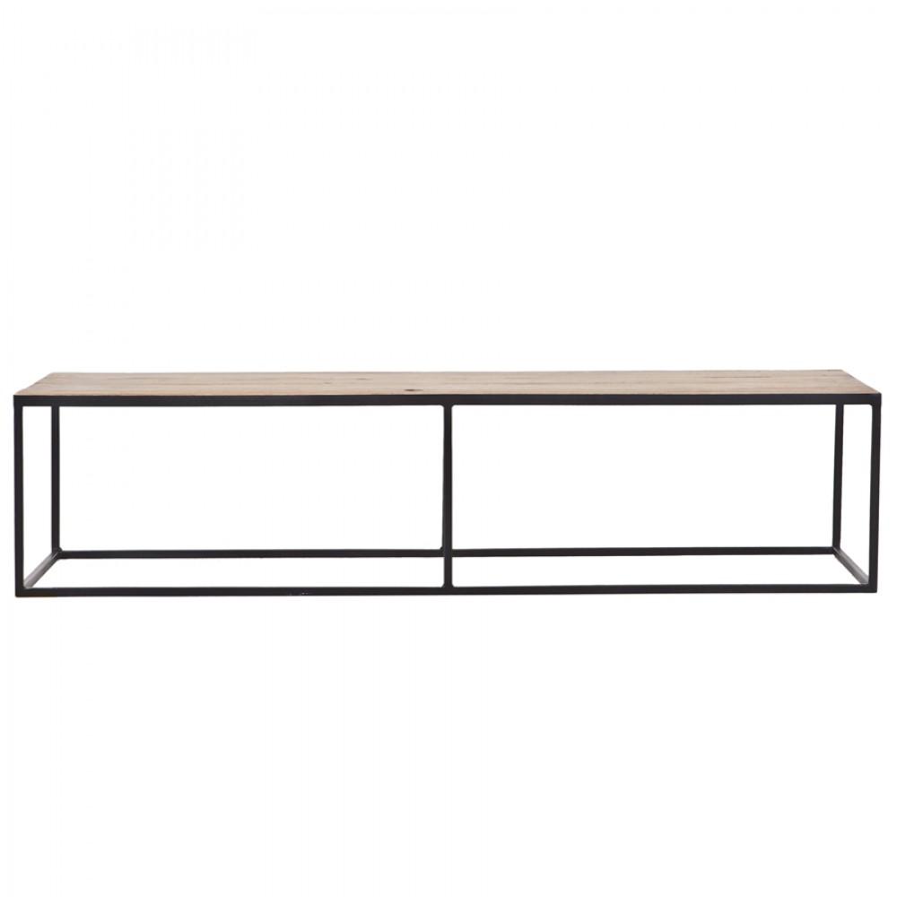 Couchtisch Metall Holz Tisch Schwarz Braun Breite 150 Cm