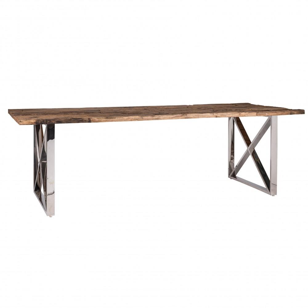 esstisch tischplatte aus altholz mit glasplatte tisch im landhausstil lange 240 cm