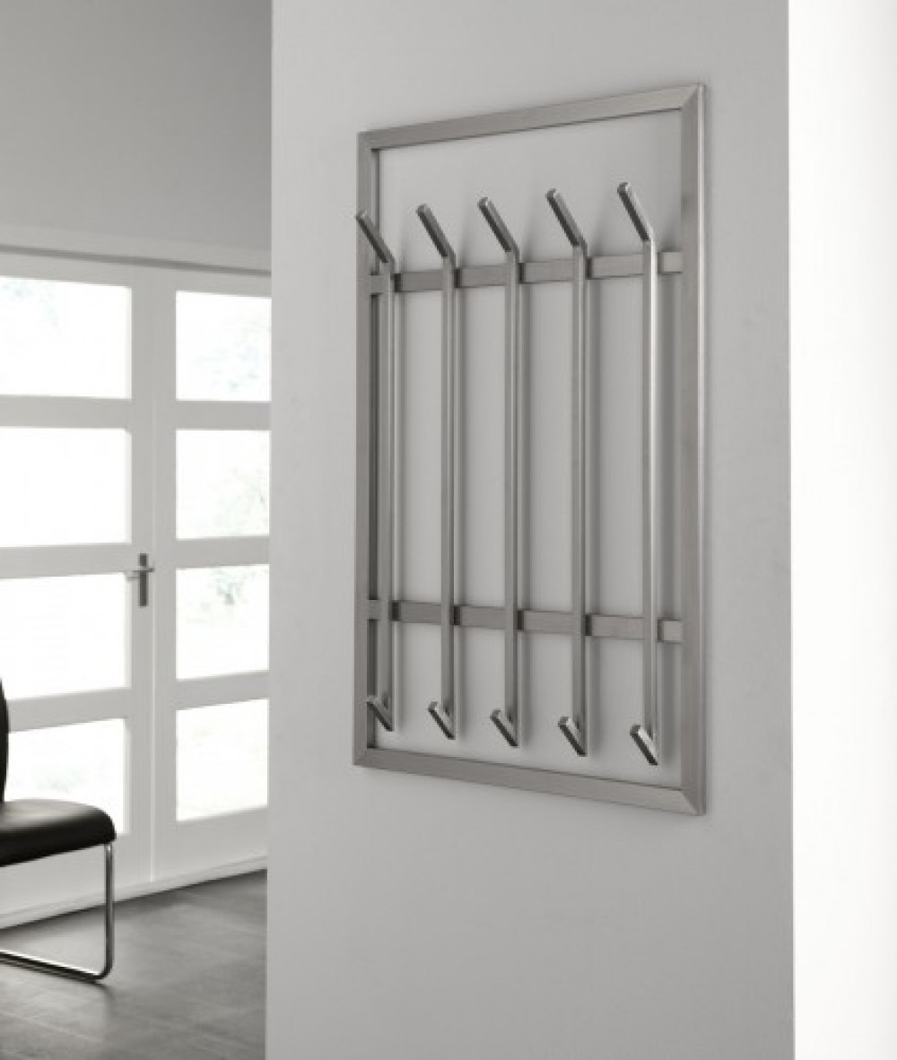 Wandgarderobe, moderne Garderobe mit 10 Haken, Edelstahl ...