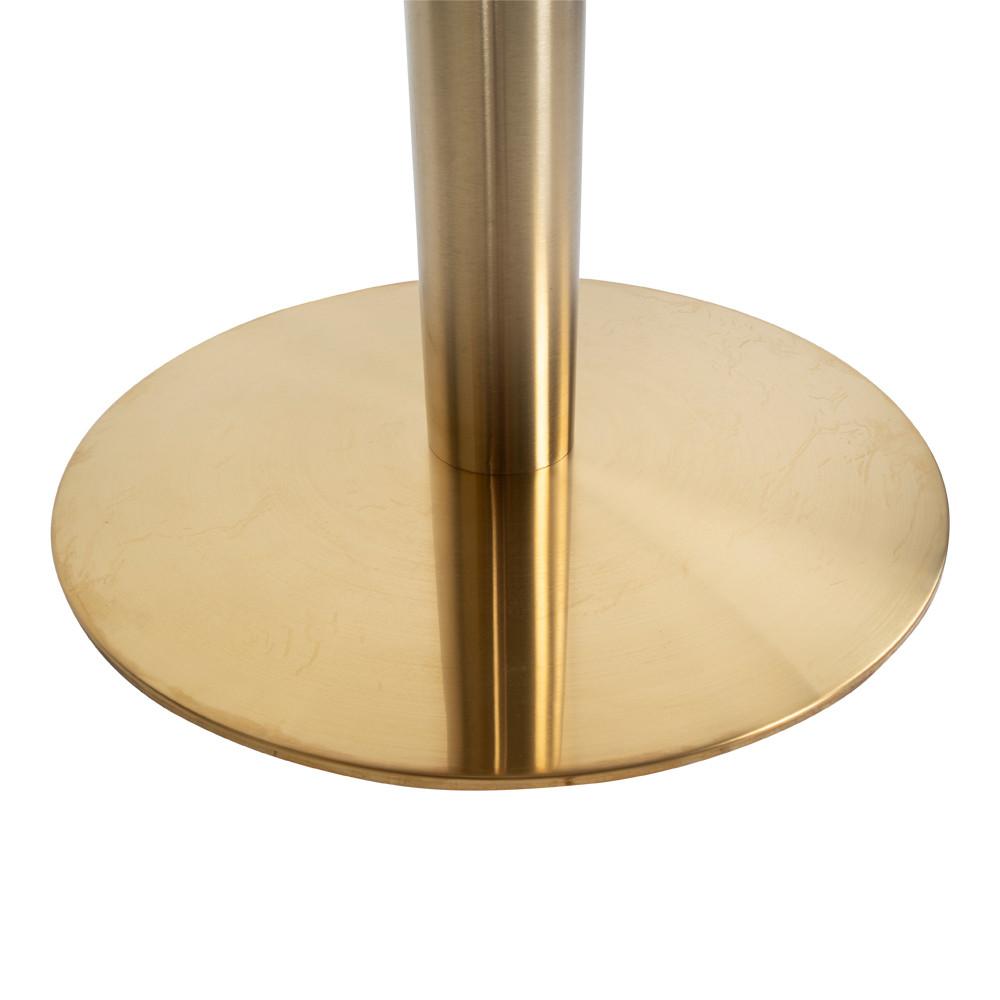 Runder Bistrotisch Gold, Bistrotisch Gold rund, runder Tisch