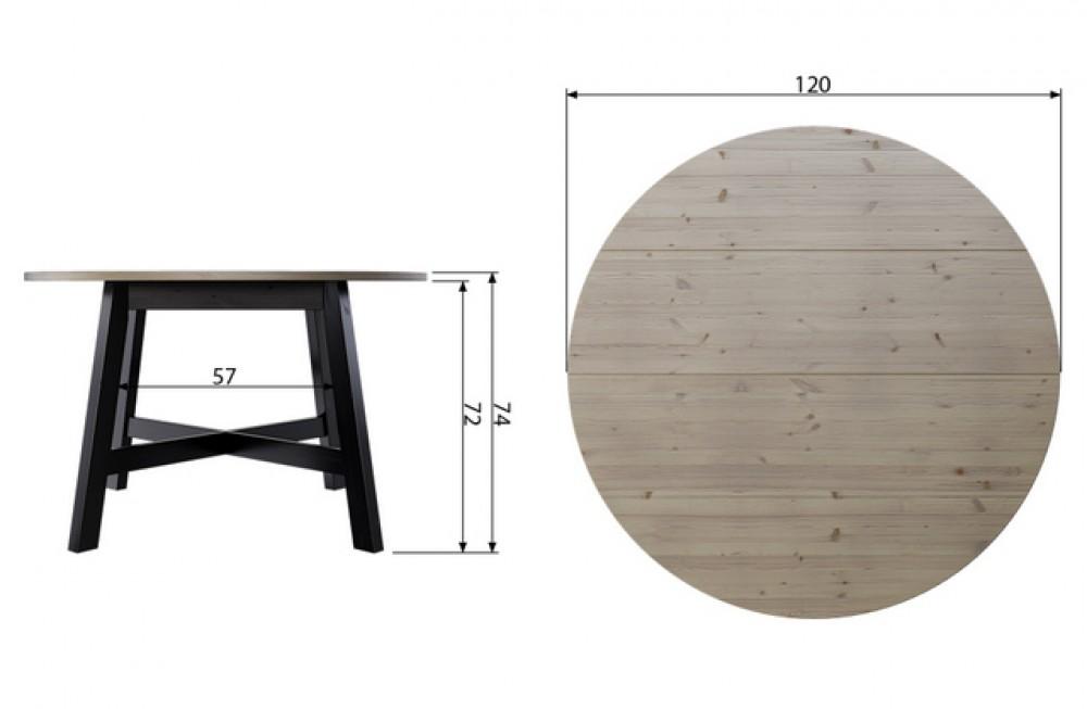 Esstisch Schwarz Massivholz Tisch Schwarz Holz Tisch Rund Schwarz