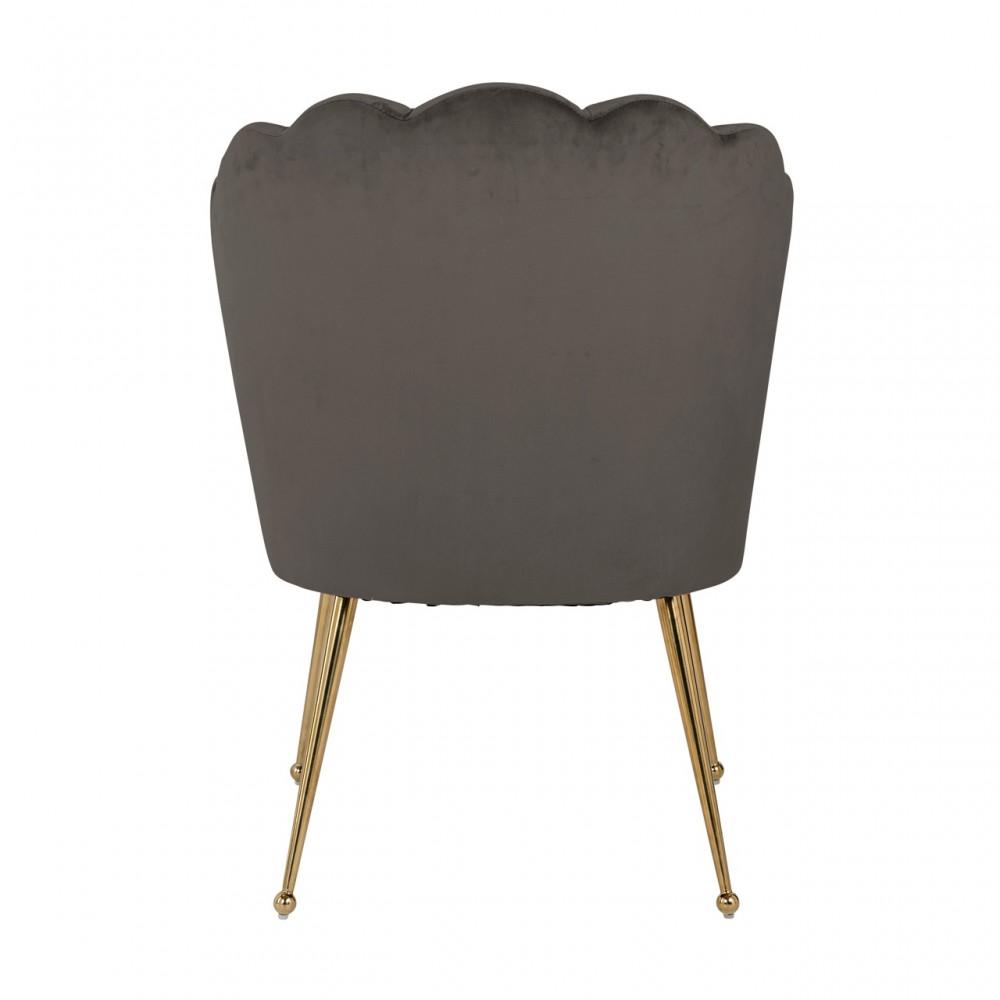 Stuhl Grau Gepolstert Stuhl Gold Velvet Stoff