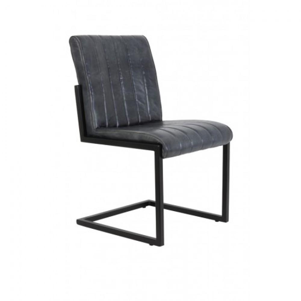 Leder Stuhl grau Industriedesign Stuhl grau