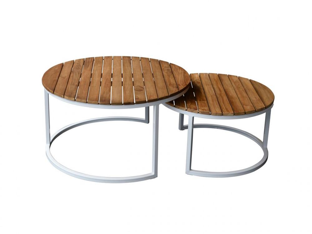 Gartentisch metall rund