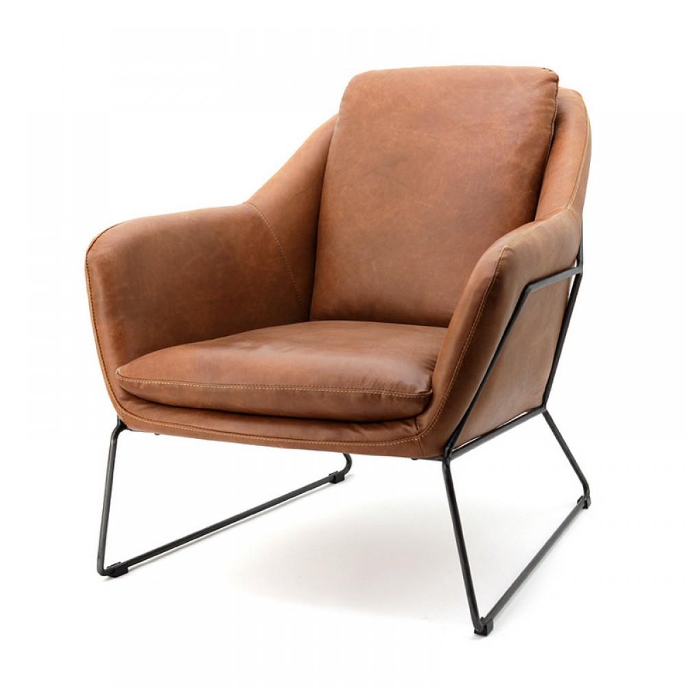 Sessel Cognac Sessel Leder Mit Armlehne Sessel Holzgestell Farbe