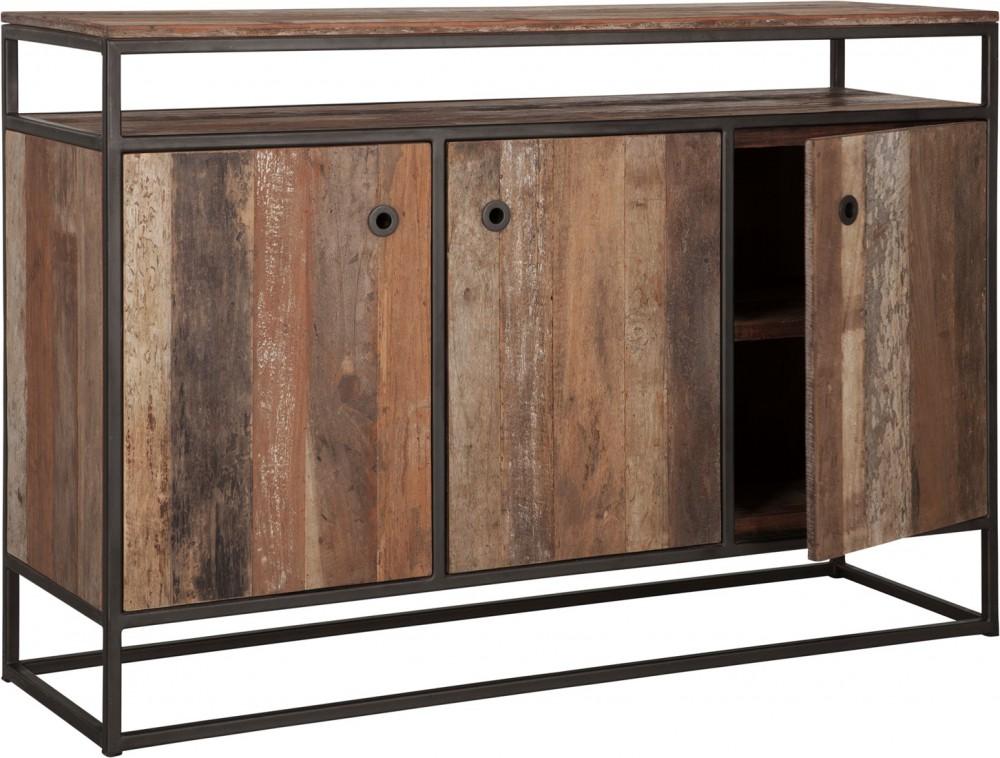 Sideboard Braun Industriedesign Anrichte Braun Holz Metall Breite