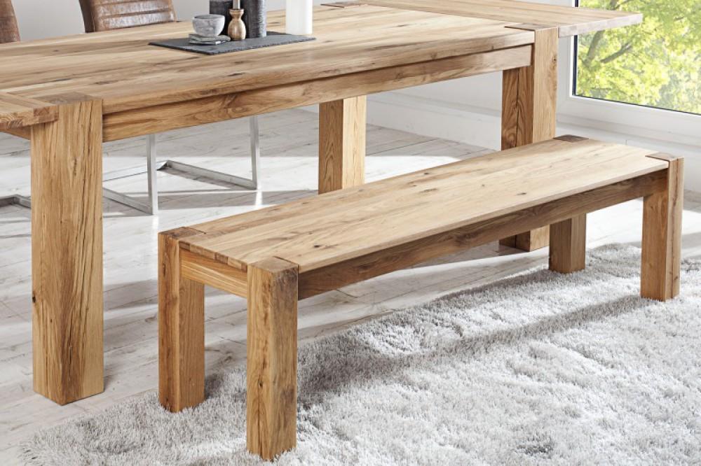 bank eiche ge lt sitzbank holz landhausstil l nge 160 cm. Black Bedroom Furniture Sets. Home Design Ideas