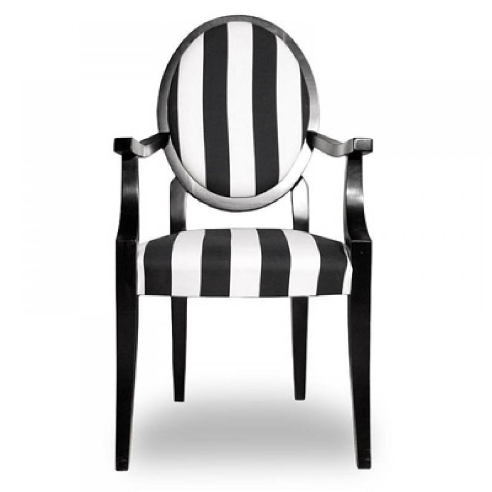 Stuhl Schwarz Weiss Stuhl Gepolstert Stuhl Mit Armlehne