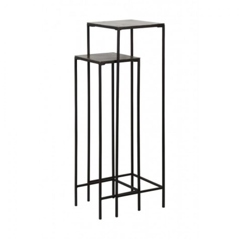 s ule schwarz metall 2er set dekos ule metall schwarz. Black Bedroom Furniture Sets. Home Design Ideas