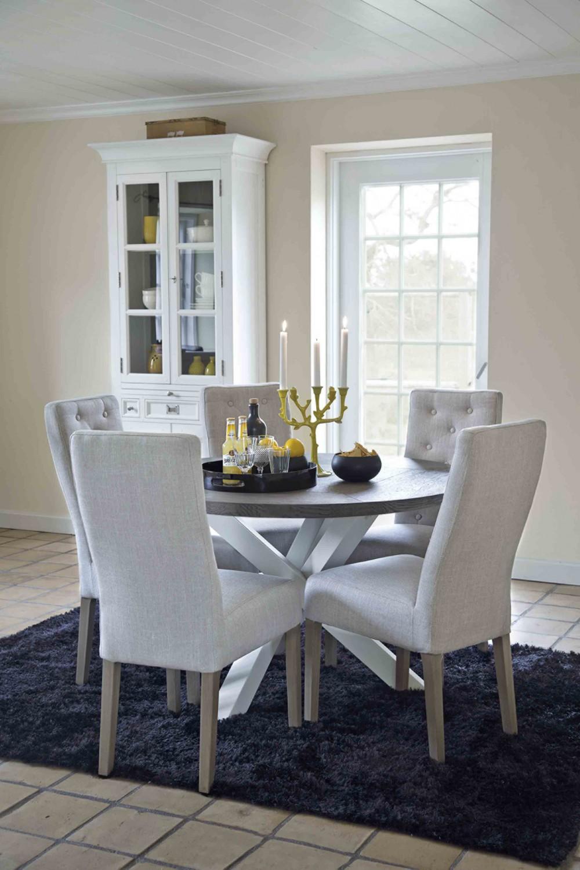 runder esstisch wei braun im landhausstil tisch rund landhaus durchmesser 120 cm. Black Bedroom Furniture Sets. Home Design Ideas
