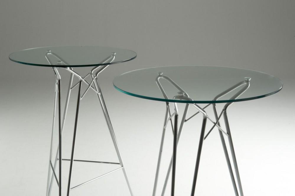 Stehtisch Rund Glas.Bartisch Rund Glas Stehtisch Glasplatte Rund Metall Gestell