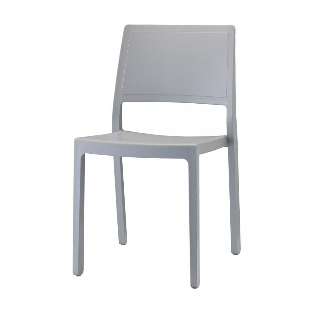 Stuhl Indoor Outdoor hellgrau aus Kunststoff