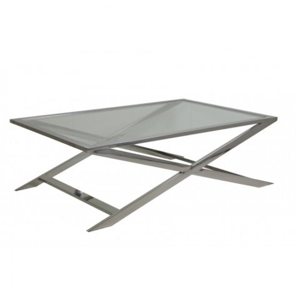 Couchtisch Silber Glas Metall Tisch Verchromt Aus Metall Und Glas