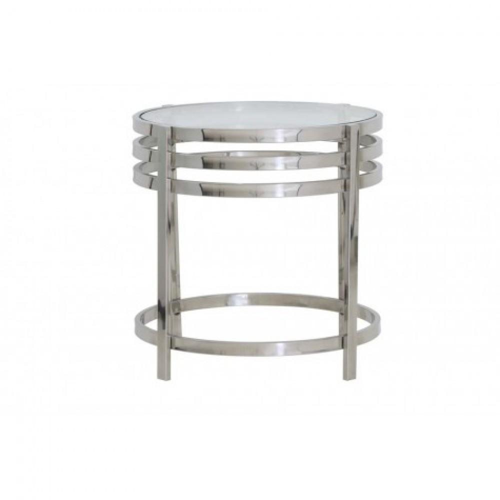 Couchtisch Rund Silber Glas Metall Couchtisch Glas Rund Verchromt