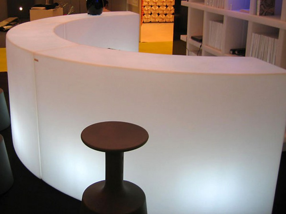 Bar Theke Weiss Kunststoff Outdoor Bartresen Mit Beleuchtung Bar