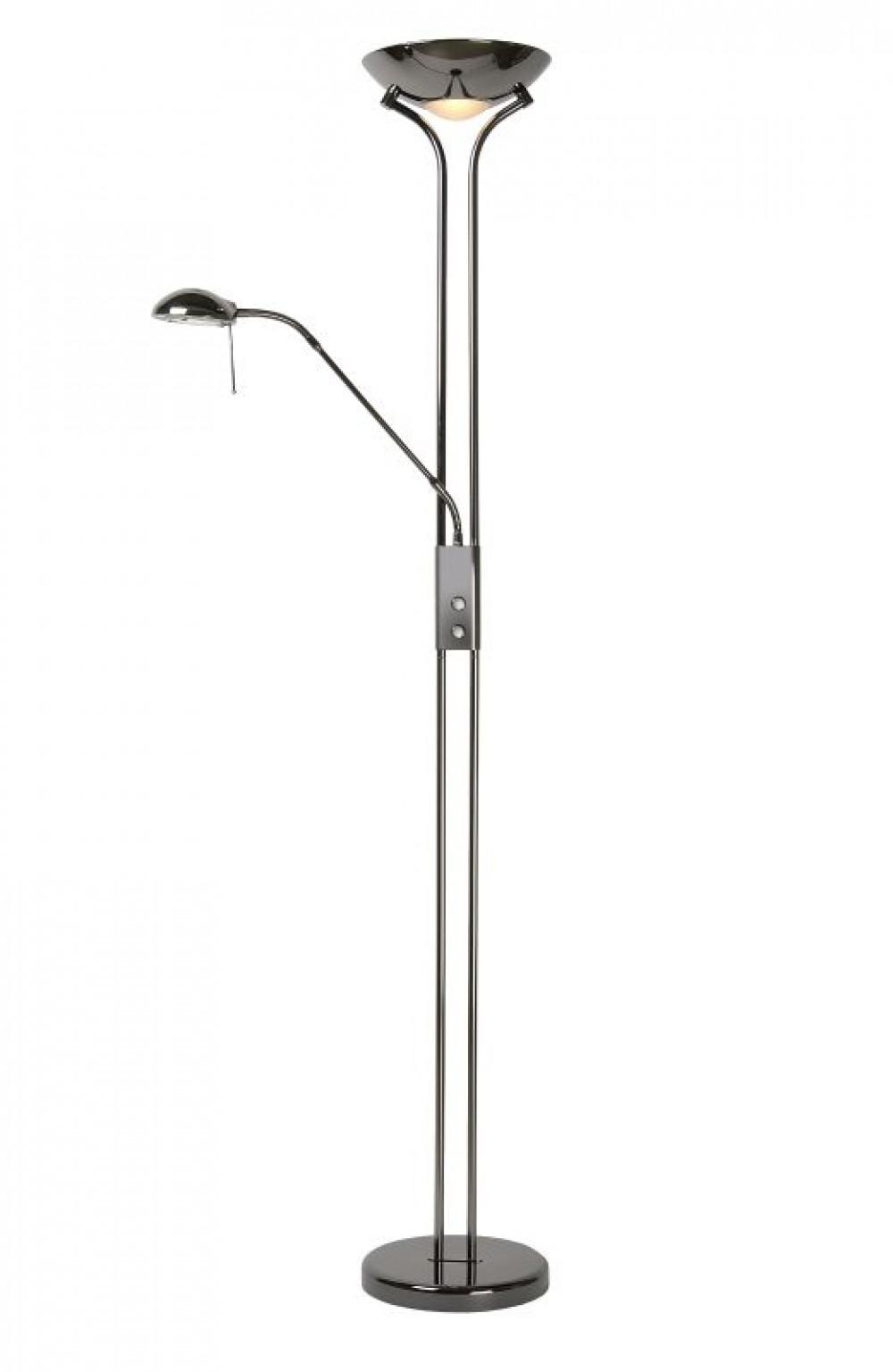 Stehlampe Stehleuchte Schwarz Chrom Hohe 180cm