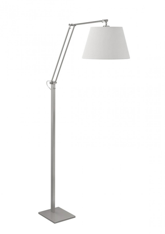 silberne stehlampe