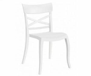 Gartenstuhl weiß stapelbar, Stuhl weiß Kunststoff