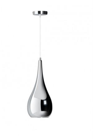 Hängeleuchte Tropfen  chrome, Hängelampe verchromt, Durchmesser 20 cm