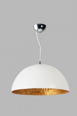 Moderne, weisse Hängeleuchte, 50 cm Durchmesser