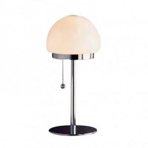 Tischleuchte im klassischen Design, Opalglas, weiß, Höhe 42 cm