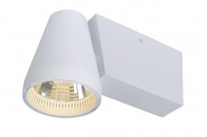 LED Deckenleuchte aus Metall weiß, modern