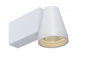 LED Wandleuchte aus Metall weiß, modern