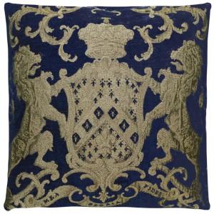 Dekokissen, Kissen, Farbe blau-gold, Größe 55 x 55 cm