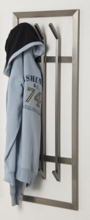 Wandgarderobe, moderne Garderobe mit 6 Haken, Edelstahl, Höhe 100 cm