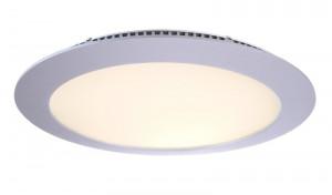 LED Deckeneinbaueuchte aus Aluminium, Glas, weiß, silber, 2700K