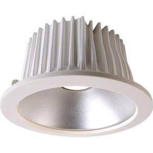 LED Deckeneinbaueuchte aus Aluminium, Glas, weiß