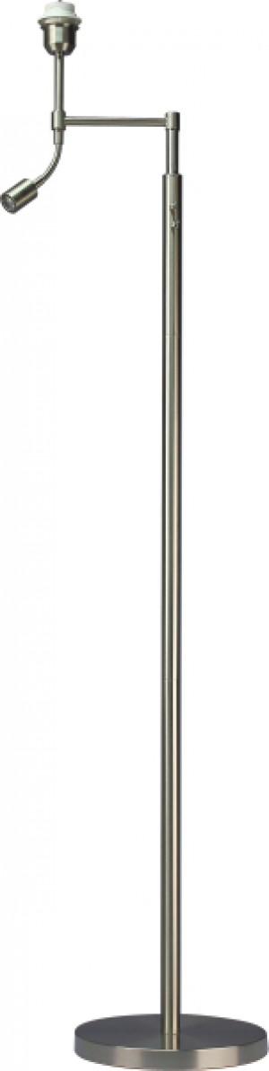 Lampenfuß Edelstahl-Optik mit LED Leselampe, Höhe 125 cm