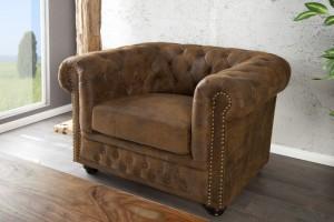 1-Sitzer Sessel im Chesterfield Look