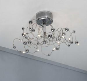 Deckenleuchte verchromt, Deckenlampe mit  10 Lämpchen, Ø 76 cm