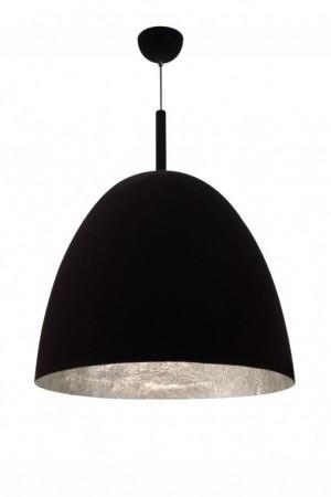 Pendelleuchte Fiberglas silber Samt schwarz modern dimmbar