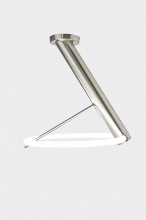 LED Deckenleuchte Metall satin