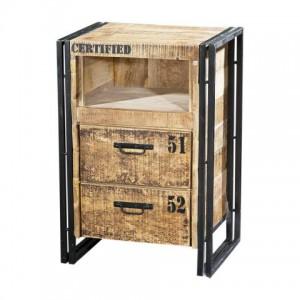 Beistelltisch, Schubladen Kommode aus Massivholz, 80 cm hoch