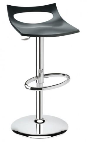 Design Bar-Tresenhocker, Farbe Anthrazit, Höhe 66-92 cm