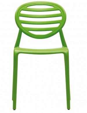 Gartenstuhl,  Stuhl Outdoor aus Kunststoff, Farbe grün