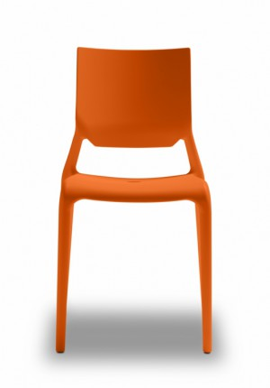 Design Stuhl Kunststoff orange