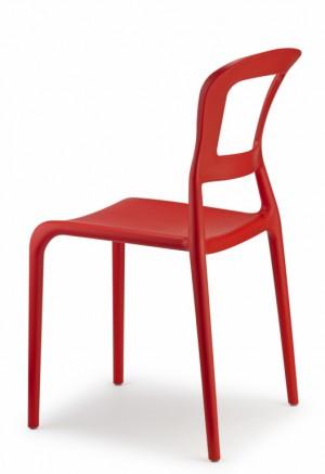 Design Stuhl Kunststoff rot modern Outdoor geeignet