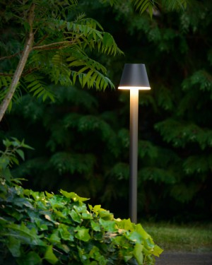LED Außenstandleuchte schwarz, Standleuchte außen schwarz, Höhe 100 cm