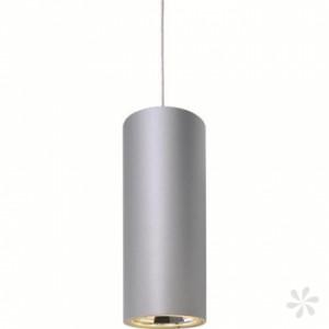 LED Pendelleuchte aus Aluminium, matt-silber, höhenverstellbar