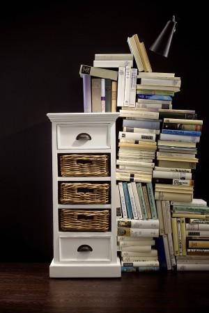 Buffetschrank im Landhausstil, mit zwei Schubladen, in weiß
