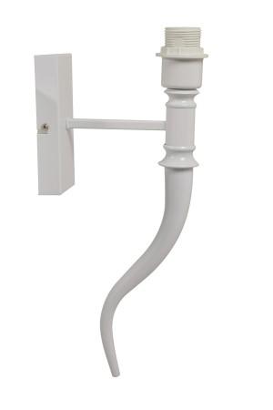 Wandleuchte weiß Höhe 40 cm, Wandlampe für Lampenschirme