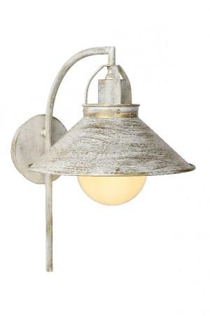 Wandleuchte aus Metall antik weiß, Industrie- & Landhausstil