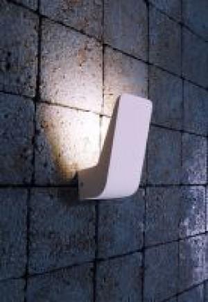 LED Design Wandleuchte aus Aluminium Druckguß, weiß
